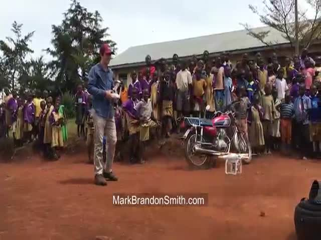 Reaction Of African Kids When They See A Drone For The First Time