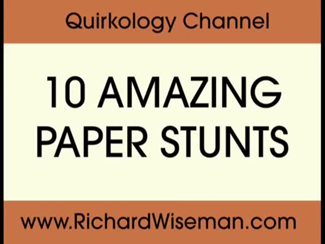 Simple But Awesome Paper Tricks From Quirkology