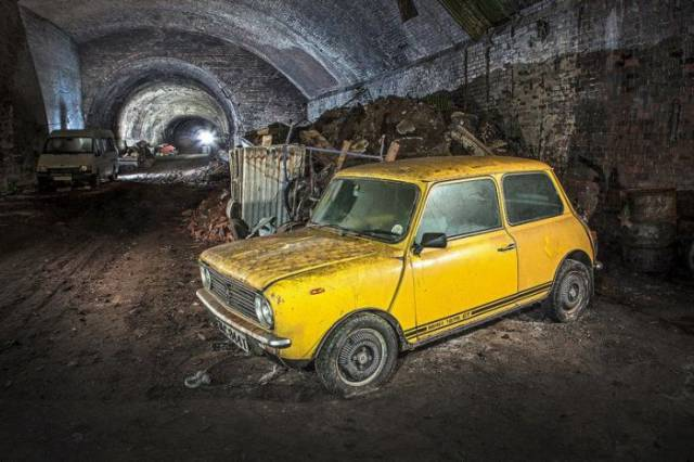 Vintage Cars Are Rotting In A Tunnel Of Liverpool