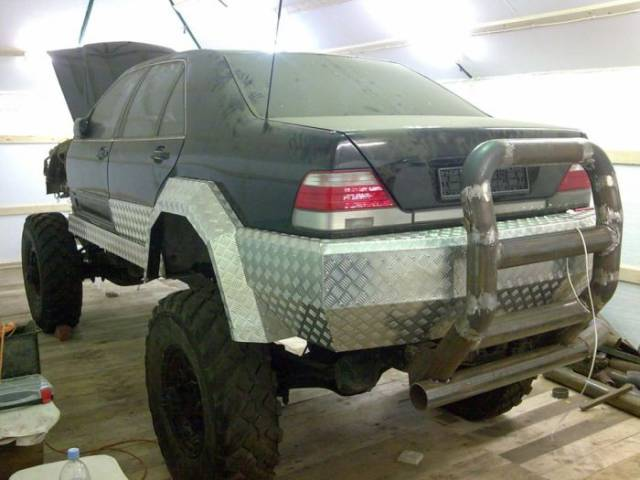 Russian N Turns Mercedes Into An Off Road Vehicle