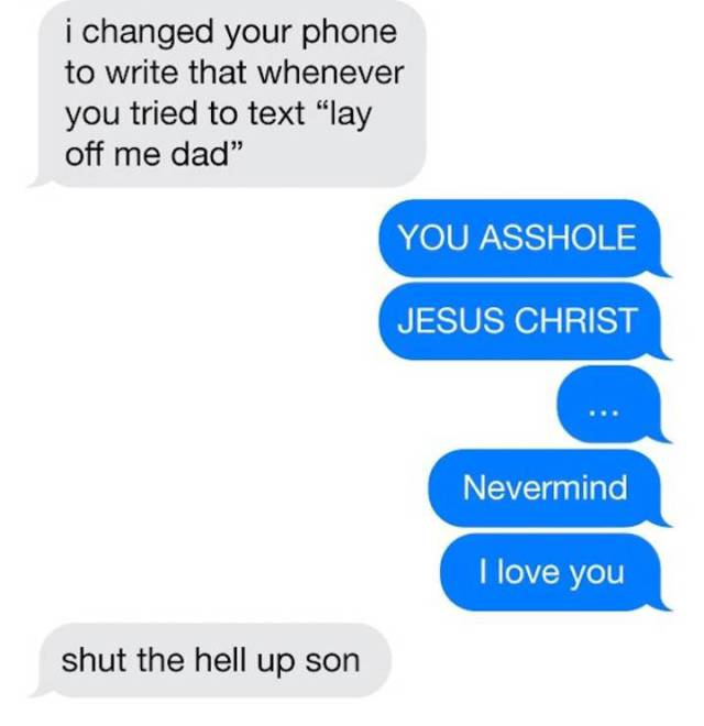 When You Try To Play A Joke On Your Father But It Miserably Fails
