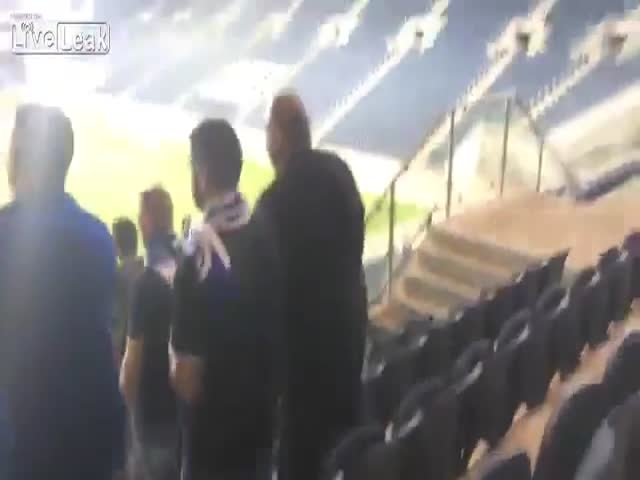 Man Makes A Silent Fart At A Football Game, Scares People Away