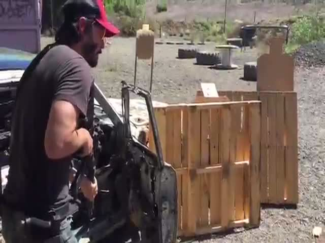 I'm Totally Impressed By Keanu Reeves Shooting Skills
