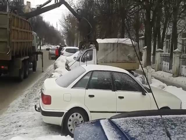 How They Tow Cars In Russia