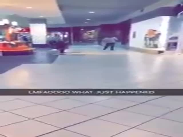 Woman Lands A Great Leg Sweep To Stop A Shoplifter