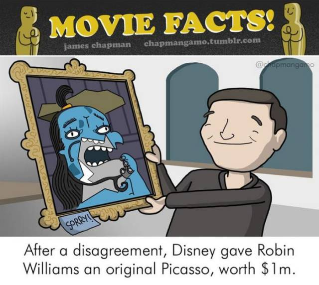 Cool Behind The Scenes Movie Facts Depicted In These Amazing Illustrations