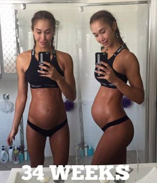 This Girl Is 8 Month Pregnant And Has More Abs Than You