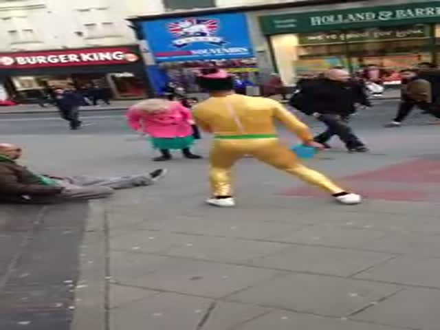 Little Lady's Dancing On The Streets Of Brighton Spreading Joy