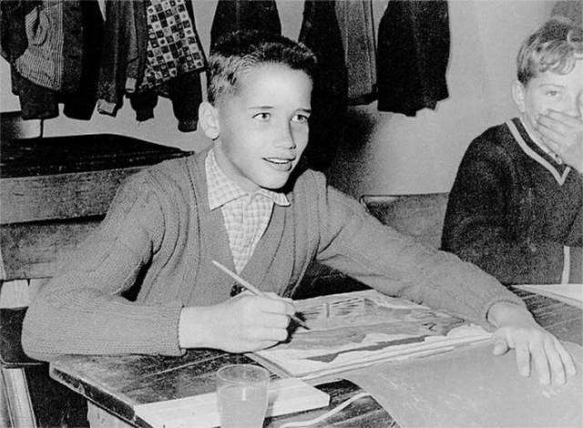 Arnold Schwarzenegger Childhood Picture when he was 6 years old