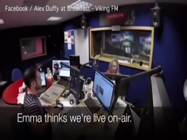 Co-Host Gets Pranked On The Radio By A Dj Saying Nasty Words And Completely Freaks Out