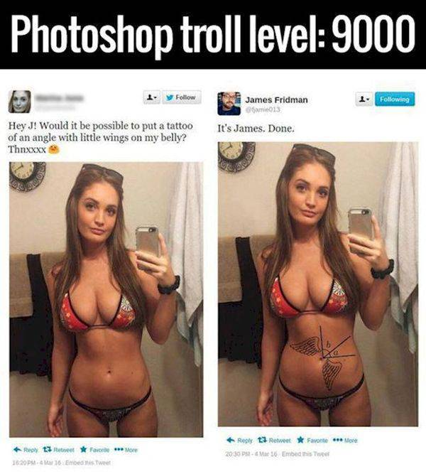 Some Photoshop Trolling Gold You May Like