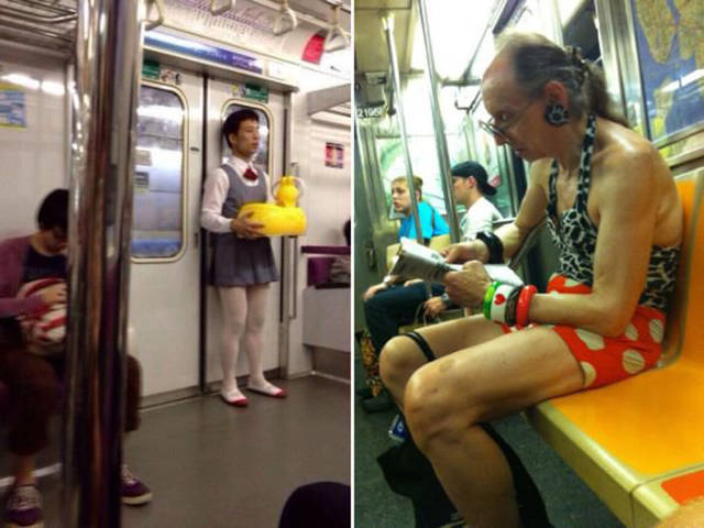You Can See Plenty Of Weirdness While Commuting