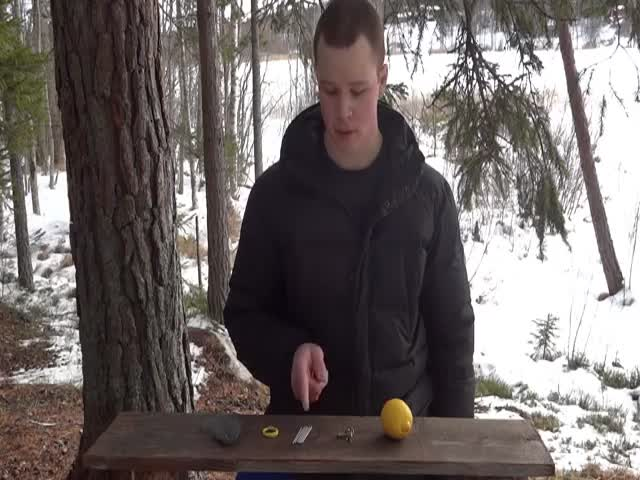 Did You Know You Could Start A Fire With A Lemon?