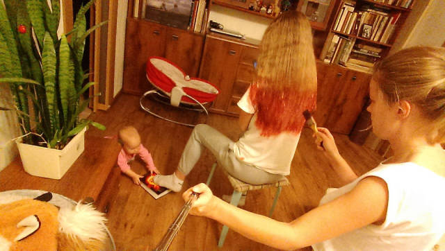 A Day In The Life Of A Young Mom Documented With A Selfie Stick