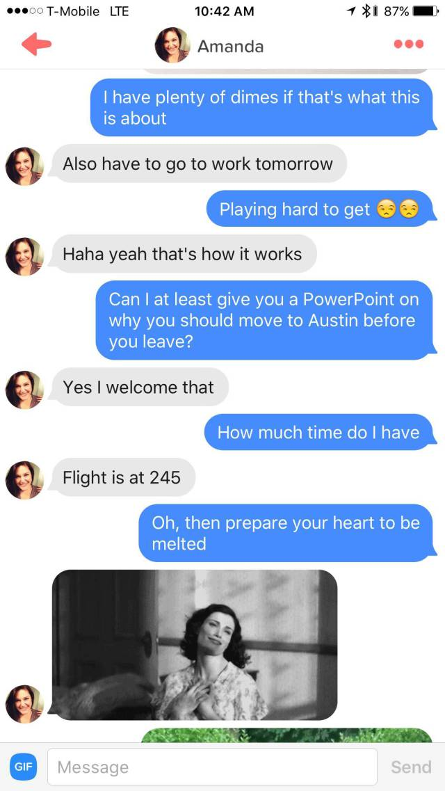 Guy Puts Together Powerpoint To Show His Tinder Match Why She Shouldn't Leave