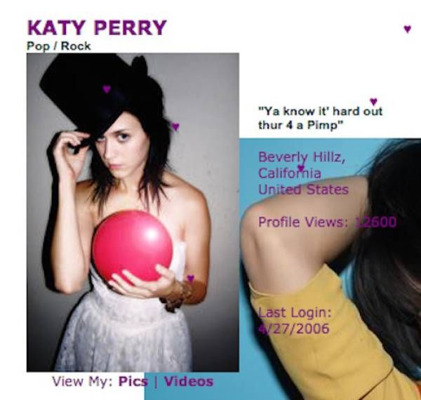 Myspace Celebrity Profiles That Are A Pure Embarrassment