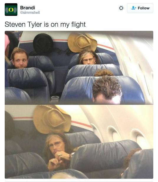 Random Celebrities Taking Random Flights