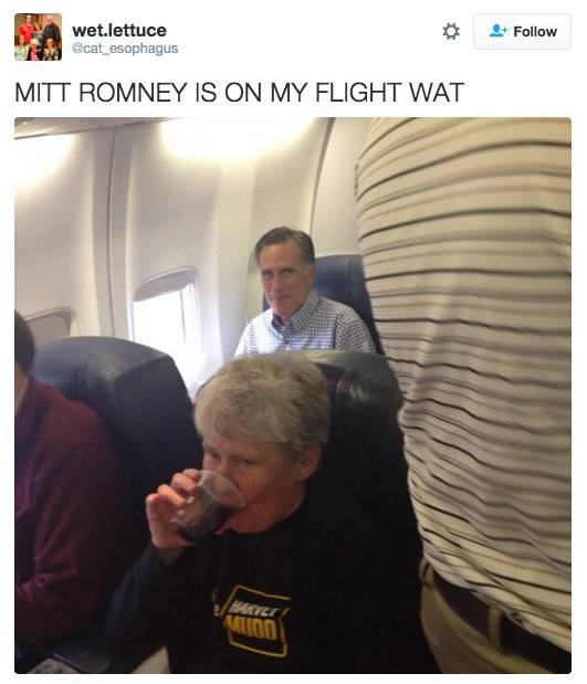 Random Celebrities Taking Random Flights