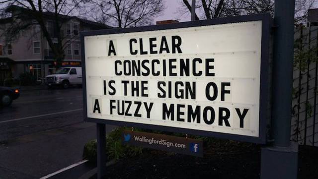 You Will Appreciate A Sense Of Humor Of Whoever Puts These Funny Messages On The Sign