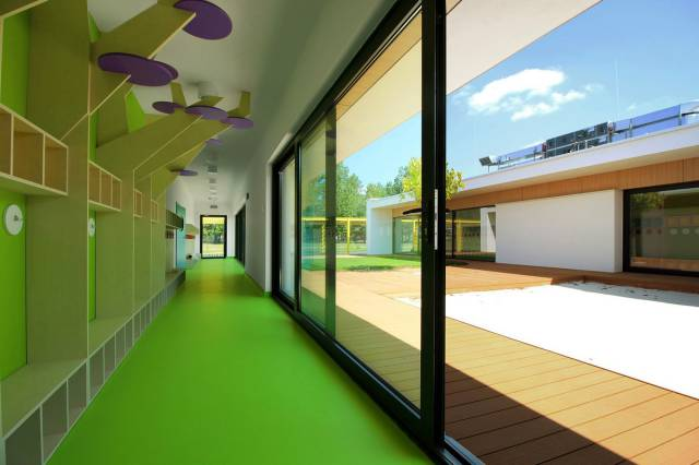 Modern Kindergarten With Bright Colors In Poland