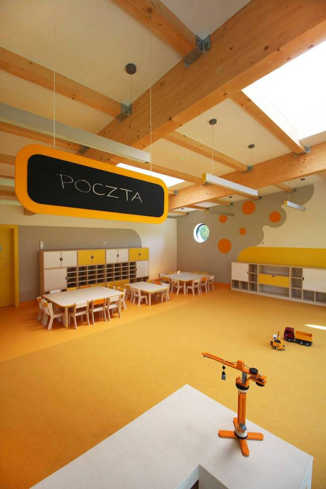 Modern Kindergarten Classroom Furniture ~ Modern kindergarten with bright colors in poland pics