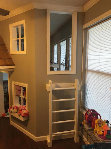 Dad Builds A Great Indoor Playhouse For His Kids (24 pics) - Picture ...