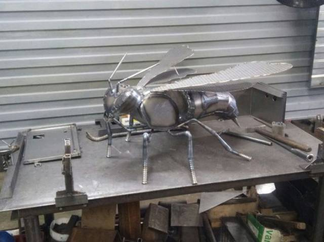 Stunning Metal Wasp Project