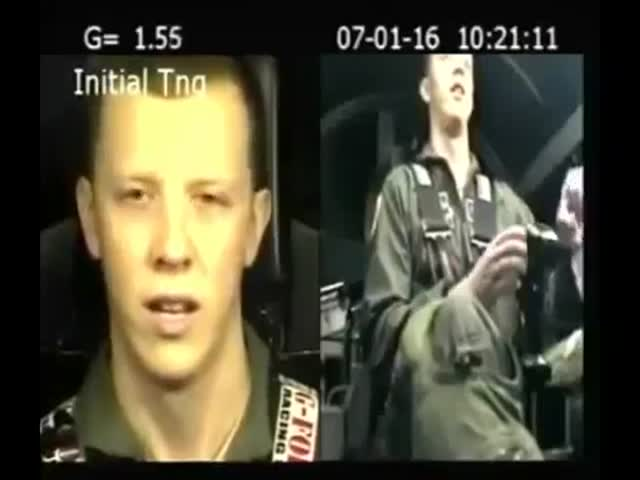 Pilot's Reaction During Training After Traveling At 7 G's