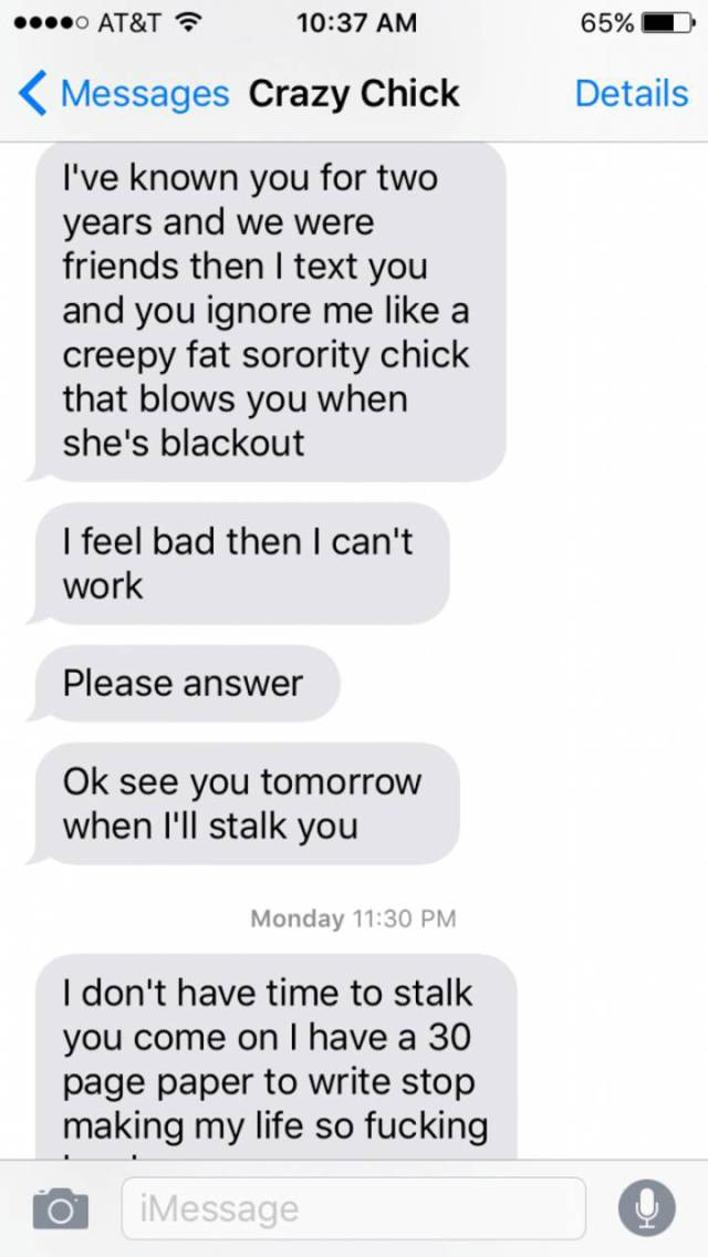 Girl Can't Get Over The Fact Of Being Dumped And Completely Loses It