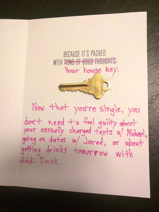 Guy Gets Rid Of His Cheating Girlfriend With A Card