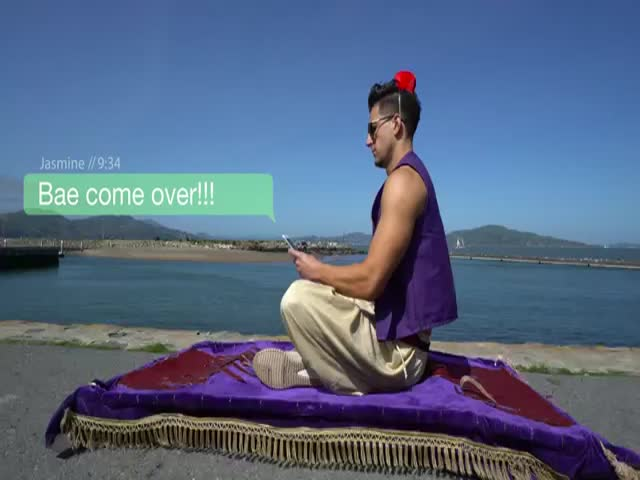 IRL Aladdin Goes On A Magic Carpet Ride in San Francisco