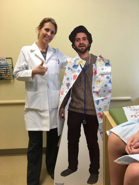 Son Sends His Family A Cardboard Cutout Of Himself, His Mother Accepts The Challenge