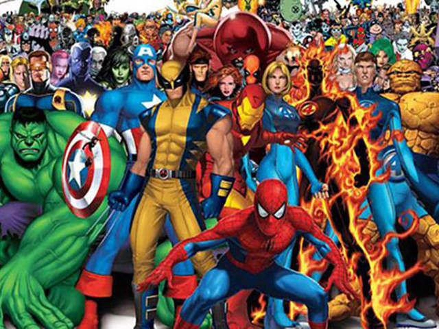 'The Many Faces Of Superheroes'