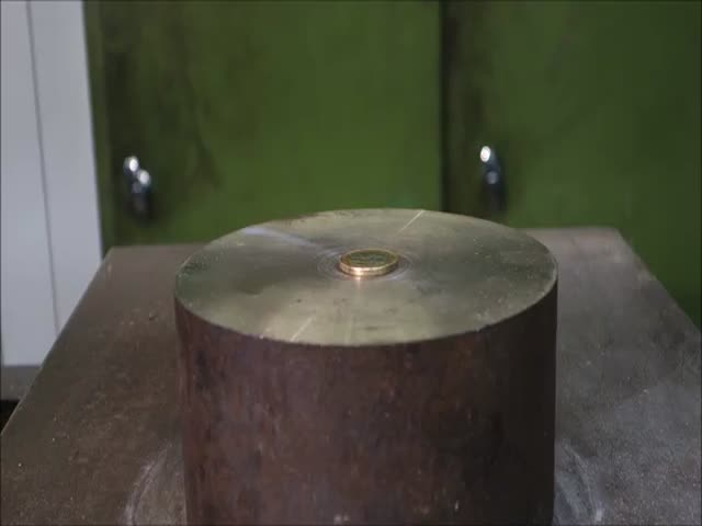 What Happens To Coins Under A Hydraulic Press