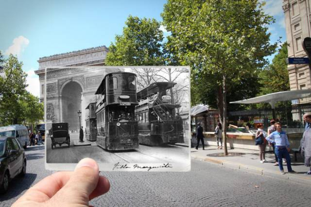 Combining Old Photos Of Paris With The New Ones Gives An Amazing Glance Into The History