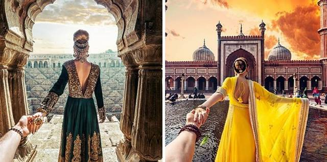 How Photo Project Of Girlfriend Dragging Her Boyfriend By The Hand Around The World Comes To Life