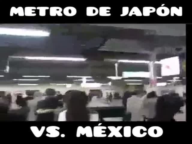 How People Take The Subway In Japan And Mexico