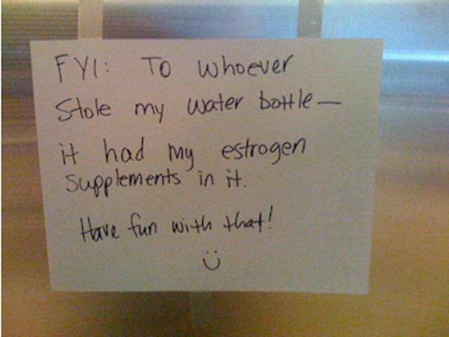People Get Very Creative With Fridge Notes When It Comes To Protect Their Food