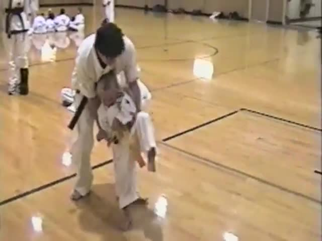 This Little Brave Kickboxer Tries To Save This Little Girl From A Karate Master