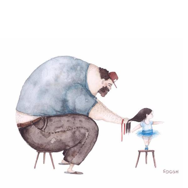 Cute Images That Illustrate How Strong Love Can Be Between A Dad And His Daughter