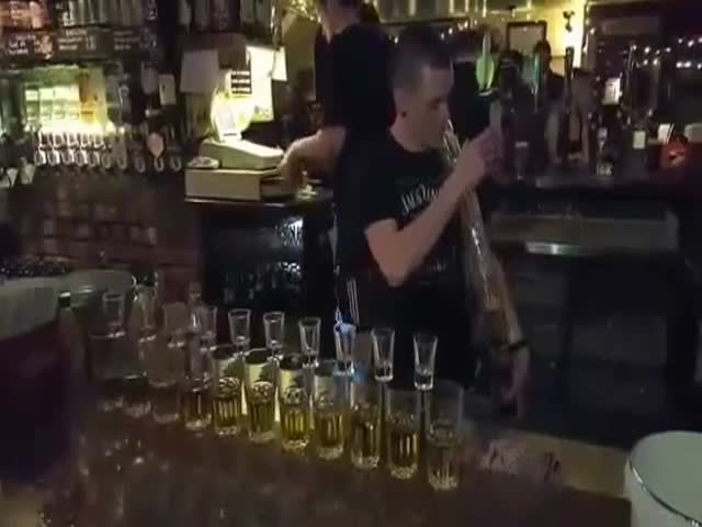 This Is One Skilled Bartender