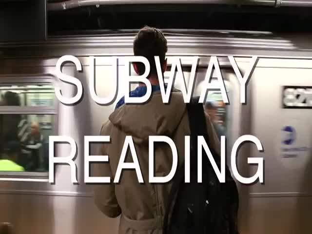 Guy Goes On The Subway With Wacky Fake Book Covers And Records People's Reactions