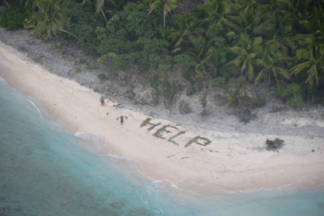 Castaways On An Uninhabited Island Got Rescued Thanks To An Old Good Technique