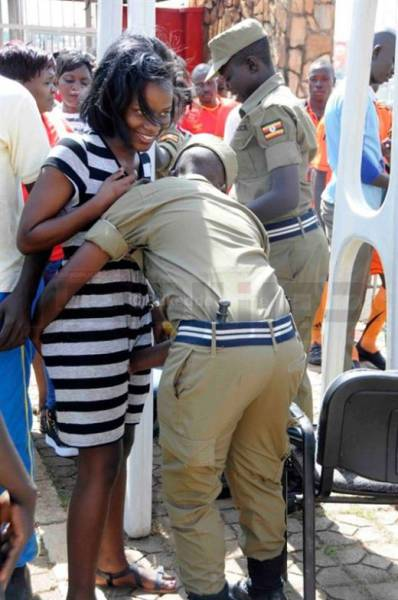 The Security In Uganda Doesn't Joke Around When It Comes To Searching Female Football Fans