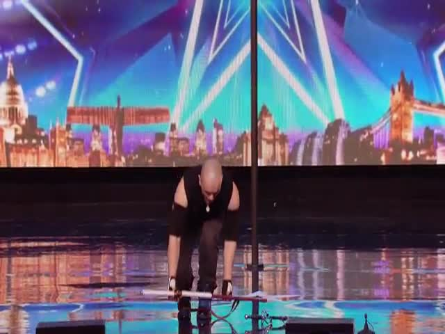 Mind-Blowing And Incredibly Dangerous Stunt Nailed By Alex Magala On BGT