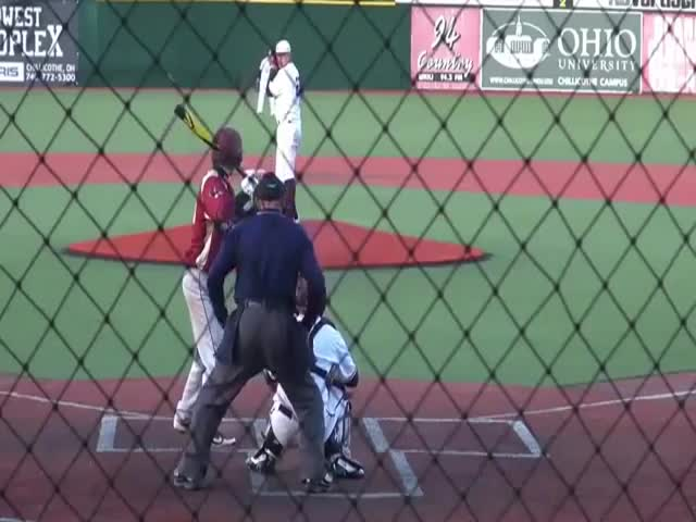 Amazing Catch By A Pitcher During A Game