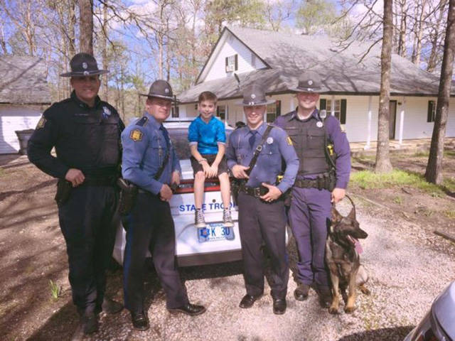 After This Kid's Class Bailed On Him On His Birthday Local State Troopers Decided To Make Him A Surprise