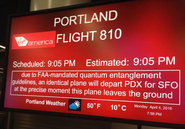 When You're An Airline Employee You Can Have Such Kind Of Fun With Departure Signs