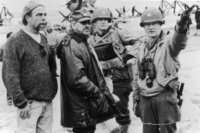 "Great Behind The Scenes Photos From ""Saving Private Ryan"" Movie"