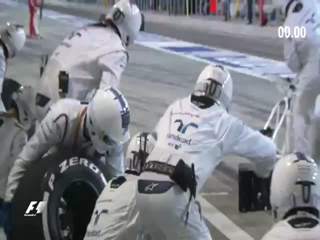 2016 DHL Fastest Pit Stop Reward During Formula 1 Bahrain Grand Prix